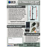 Paket Pju Tenaga Surya Led 60W Mppt 1