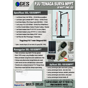 Paket Pju Tenaga Surya Led 60W Mppt