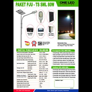 Paket Pju Tenaga Surya Multi Led 80W - Lampu Solar