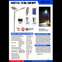 Paket Jalan Pju Tenaga Surya Multi Led 120W Mppt 1