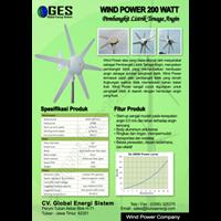 Wind Power 200Watt Horizontal