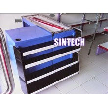 Meja kasir shelving dan price card