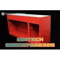 Meja Kasir merah 120cm
