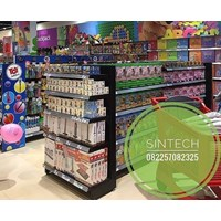 Rak Supermarket / Rak Minimarket BackPanel Hitam 1