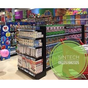 Rak Supermarket / Rak Minimarket BackPanel Hitam