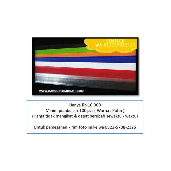 Plastik Mika Price Card Jakarta K68