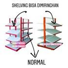 Shelving Rak Supermarket / Rak Minimarket Model Miring 1