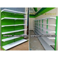 Rak Minimarket / Rak Supermarket Backpanel dan Backmesh Mewah
