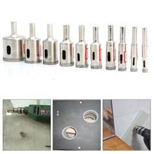Mata Bor Kaca Bulat Untuk Kaca Keramik Granit Ukuran 5 Mm Sampai 65 Mm Electroplated Straight Drill