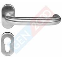 Jual Handel Pintu Stainless Engkol Aluminium Door Lever Handle Pintu Stainless Oval LHTR 84030 SSS