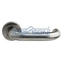 Handel Pintu Stainless Dekson Door Lever Handle Pintu Stainless Steel Round 0016 19 Mm Dekkson 1
