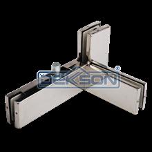 GLass Door Patch Fitting Dekkson PT 41 Top Fitting Penjepit Kaca Pada Fitting Pintu Kaca PT41 Merk Dekson