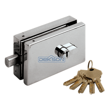 Grendel Kunci Pintu Kaca Dekson Single Glass Door Lock GDL 38225 PSS Dekkson