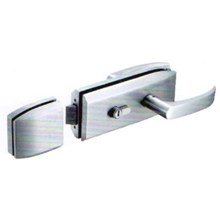 Handle Engkol Pintu Kaca Single Glass Lever Handle Lock Single