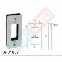 Distributor Handle Pintu Kaca Tanam Stainless Kotak Stainless Square Glass Sliding Door Flush Pull Plate Handle 3