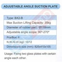Distributor Adjustable Angle Glass Suction Cup or Lifting Tools Kop Kaca Sudut Alat Angkut Kaca Bisa di Tekuk Diameter 118 Mm 3