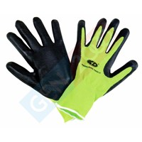 Jual Sarung Tangan Safety Alas Karet Anti Slip Rubber Gloves For Lifting Glass and Other Material