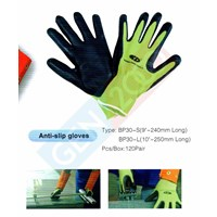 Jual Sarung Tangan Safety Alas Karet Anti Slip Rubber Gloves For Lifting Glass and Other Material 2