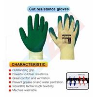 Jual Cut Resistance Anti Slip Gloves Sarung Tangan Safety Bahan Karet dan Pelindung Lecet 2
