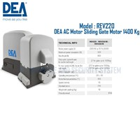 Pintu Otomatis DEA Sliding Gate AC Motor REV220 1400 Kg