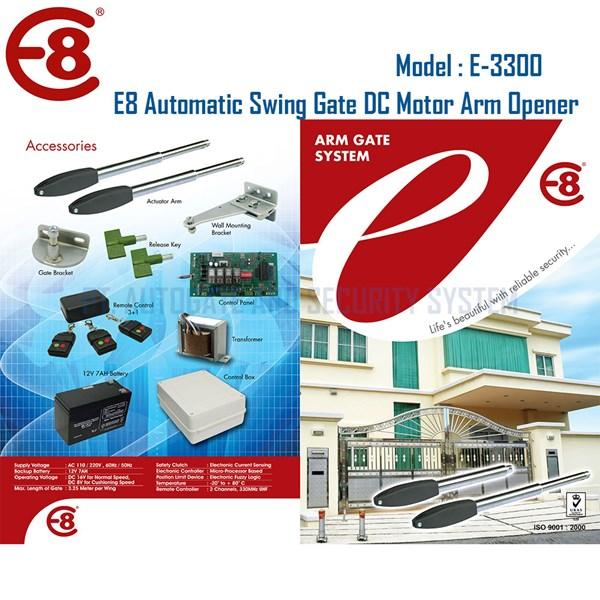 Pintu Pagar Otomatis Swing Gate DC Motor Arm Opener Tipe E3300