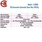 Pintu Otomatis Automatic Door 240 Kg Merk E8 Type E6000 3