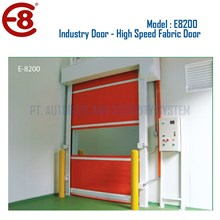 Pintu Industri Otomatis High Speed Door Fabric Style