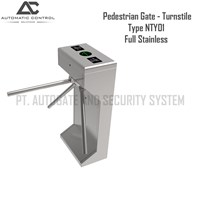 Pagar Barrier Pedestrian Gate Model Turnstile Full Stainless NTY01