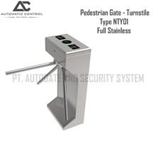 Pagar Barrier Pedestrian Gate Model Turnstile Full Stainless NTY01