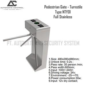 Dari Pagar Barrier Pedestrian Gate Model Turnstile Full Stainless NTY01 1