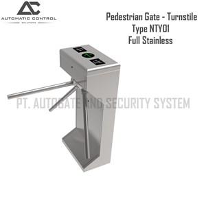 Dari Pagar Barrier Pedestrian Gate Model Turnstile Full Stainless NTY01 0