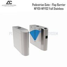 Flap Barrier Pedestrian Gate Flapper Full Stainless NFY01-NFY02 Dual Core