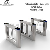 Flap Barrier Pedestrian Gate Swing High End Series NSA01-NSA02