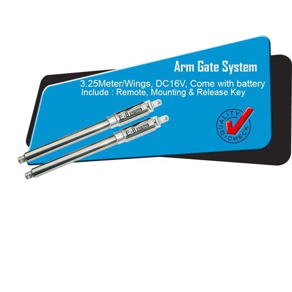 Arm Gate Aluminium Silver 3 Meter per Wings