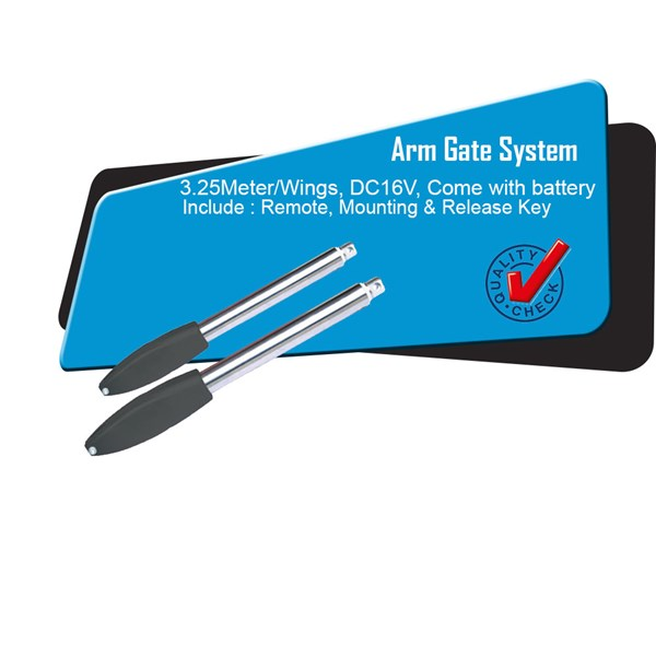 Arm Gate Black Arm 3 Meter per Arm