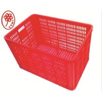 Keranjang Industri YTH 06 warna merah besar bolong 1