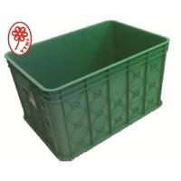 Large industrial solid basket: 06B green color