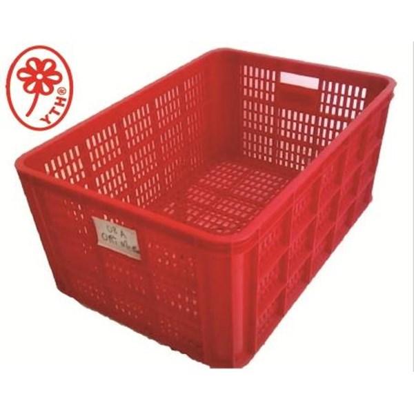 Keranjang Industri Multi fungsi sedang bolong YTH 08A warna merah