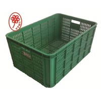 Industrial plastic basket cart Multi function is being perforated green DESIGNATION 08A