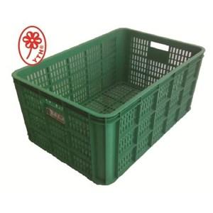 Keranjang Industri keranjang plastik Multi fungsi sedang bolong YTH 08A warna hijau