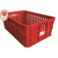 Keranjang Industri Multi fungsi kecil bolong YTH 19 warna merah 1