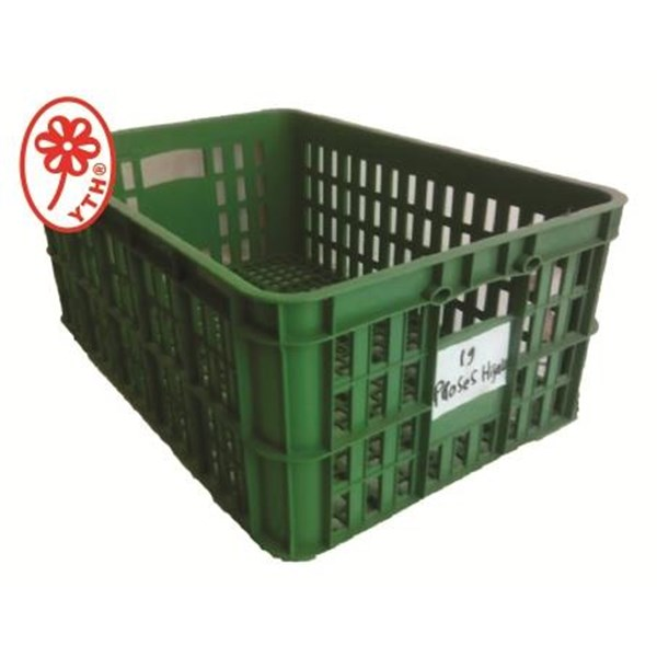 Keranjang Industri Multi fungsi kecil bolong YTH 19 warna hijau