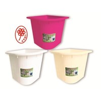 Bak air mandi YTH 73 warna pink putih cream ukuran 80 liter