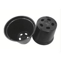 Jual Pot Bunga Plastik YTH 82 warna hitam