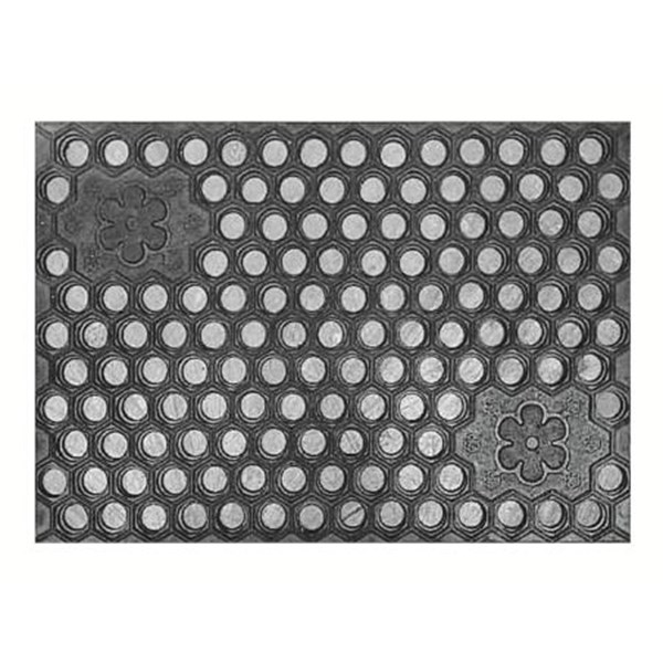 Keset kaki lantai YTH Ori warna hitam ukuran universal motif 3