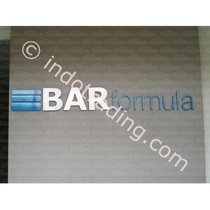 Embossed Letters BAR Formula By Andalan Advertising
