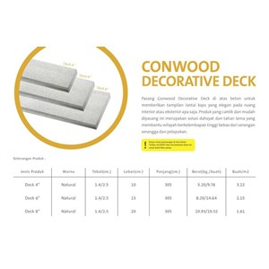 Conwood Decorative Deck
