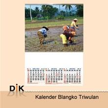 Cetak Kalender Blangko Triwulan