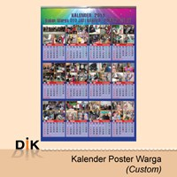 Cetak Kalender Poster Warga Custom