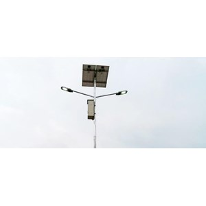 Lampu Tenaga Surya Double Ornamen Angel Tiang lampu jalan pju
